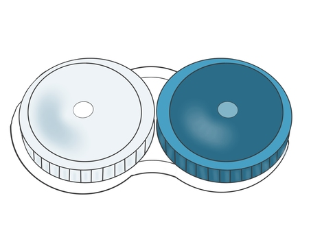 Contact lens storage case