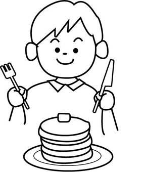 Pancake ♪ (monochrome)