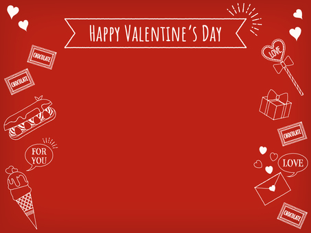 Hand painted style valentine background red