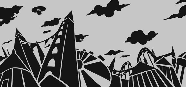 Amusement park paper-cut style background