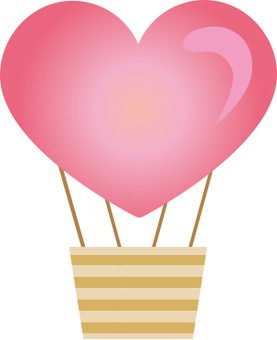 Heart's cute balloon