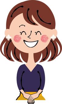 Smile plain clothes young woman front
