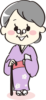 기모노의 할머니