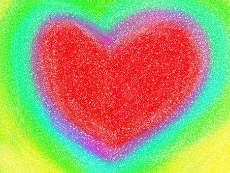 Sand Art style Heart