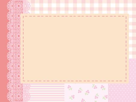 Patchwork frame Pink