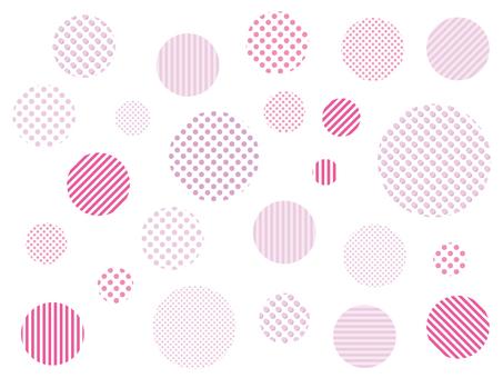 點圖案粉紅色色板