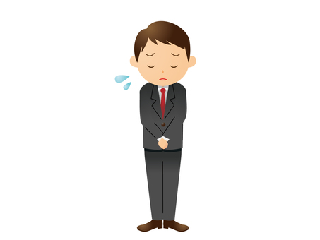 A man with a suit to bow