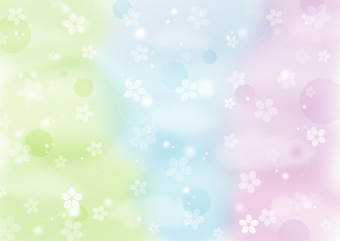 Glitter colorful spring cherry blossom background wallpaper