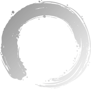 A circle written with a brush (silver)