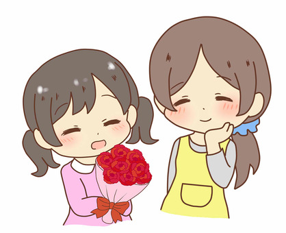 Give flowers bouquet on Mother's Day