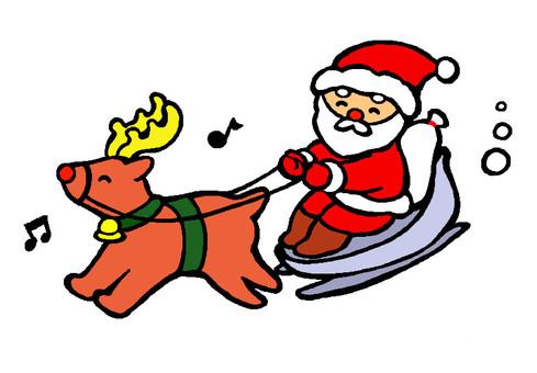 Reindeer and Santa Claus (Smile)