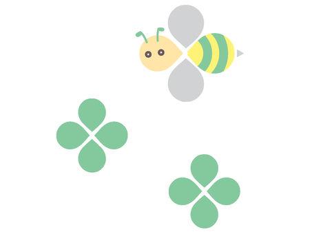 Honeybee and clover