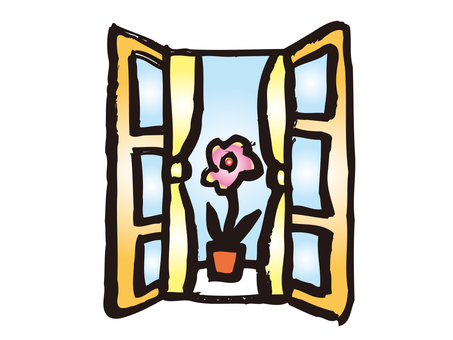 Flower on the window side