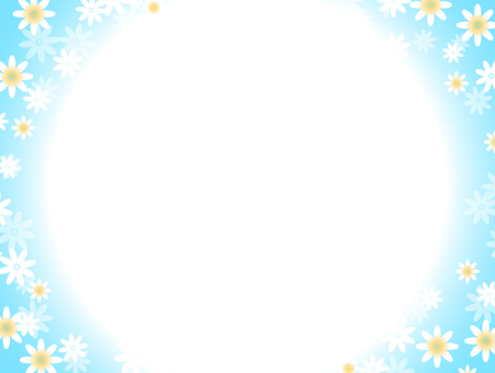 Flower background (light blue