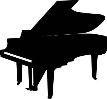 ピアノ ・シルエット