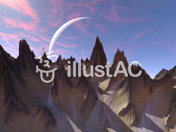 幻想的風景のイラスト