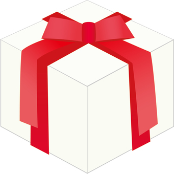 A red ribbon gift box