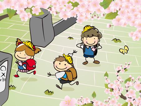 Cherry blossoms and children 03