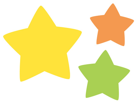 Three stars Vitamin color