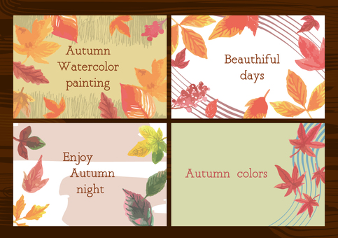 Autumn leaves watercolor frame