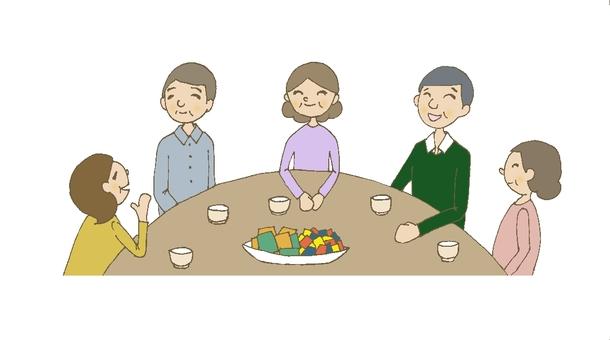 Social gathering 6 (Grandpa Grandma)