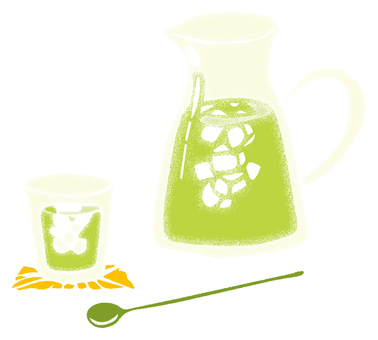 Cold green tea