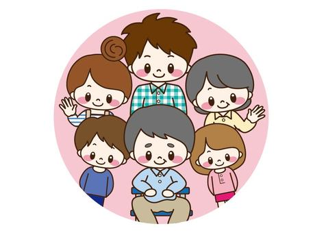 6 people family