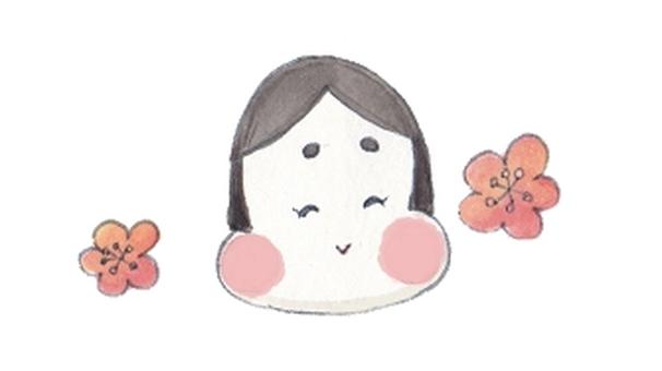 Setsubun Otofuku (with plum)