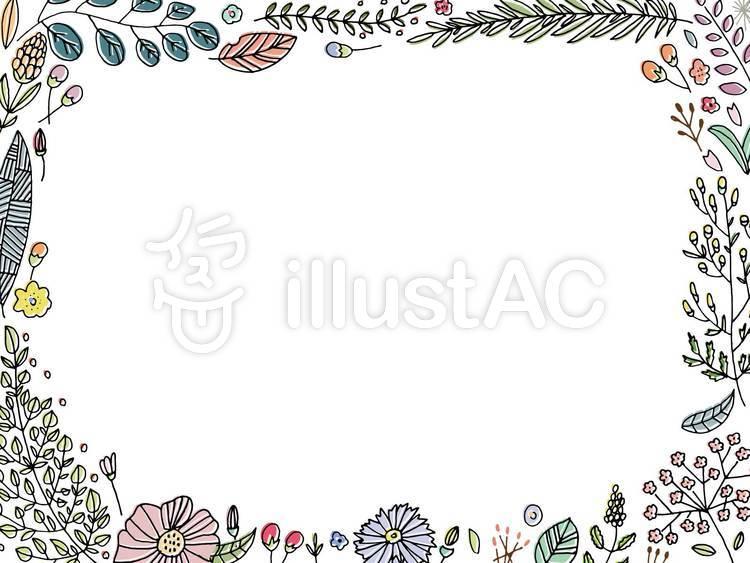 ボタニカル花デザイン枠イラスト No 1468401無料イラストなら