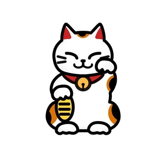 Maneki Neko (with outline)