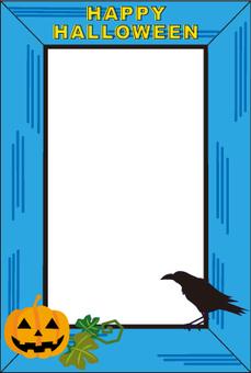 Halloween crow frame