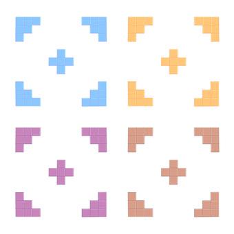 Tile 4 color set