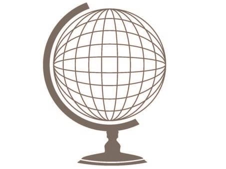 Globe drawing