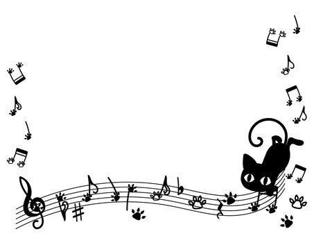 Black cat note frame