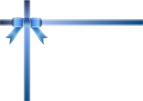Blue ribbon frame
