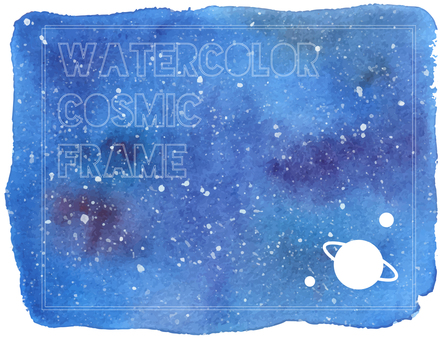 Watercolor starry frame