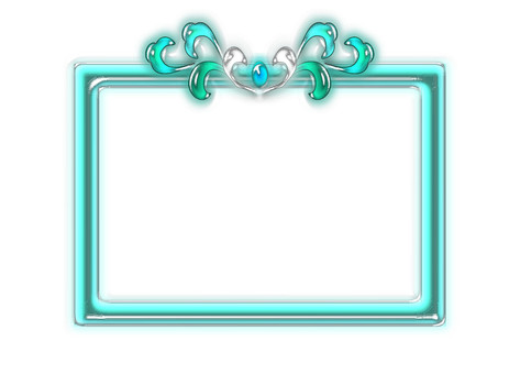Jewelry-like blue decorative frame