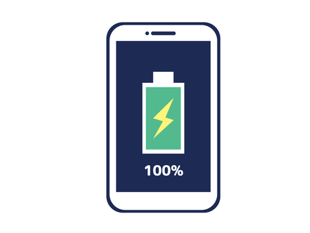 100% charging smartphone and smartphone