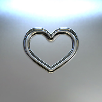 Heart mark - Silver metal plate