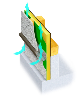 Residential wall insulation structure