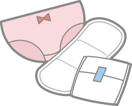 Shorts and sanitary napkins