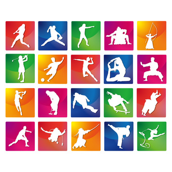 Sports colorful icon set