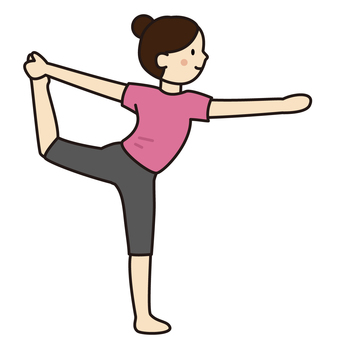A woman doing a bow pose with yoga