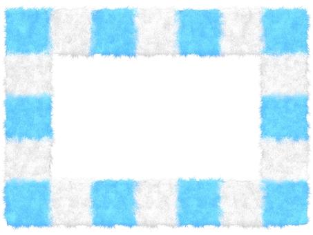 Fluffy mokomoko material square frame
