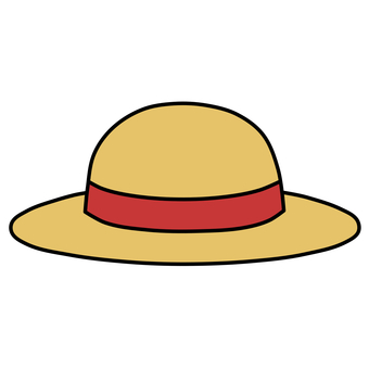 Straw hat red