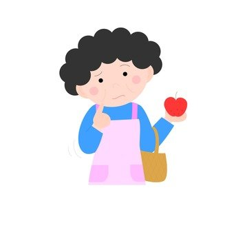 Housewife, shopping, apple