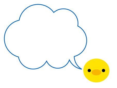 병아리 풍선 프레임 동물 파랑