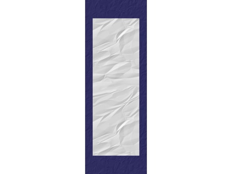 Beginning of writing Paper display hanging in eight cut size indigo blue