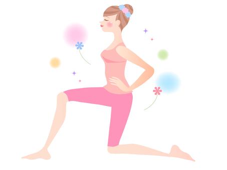 Stretch / diet / gymnastics / female