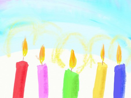 Hand-drawn Candle